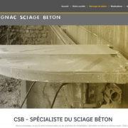 Site Internet Cognac Sciage Beton - CSB